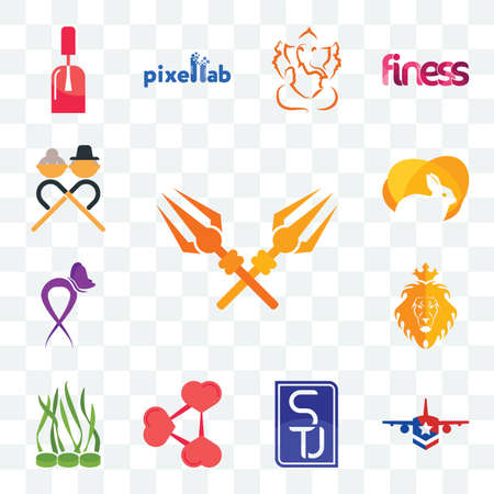 Set Of 13 transparent editable icons such as trishul, honor flight, stu, share png, spirulina, judah and the lion, lupus, rabit, senior citizen, web ui icon pack