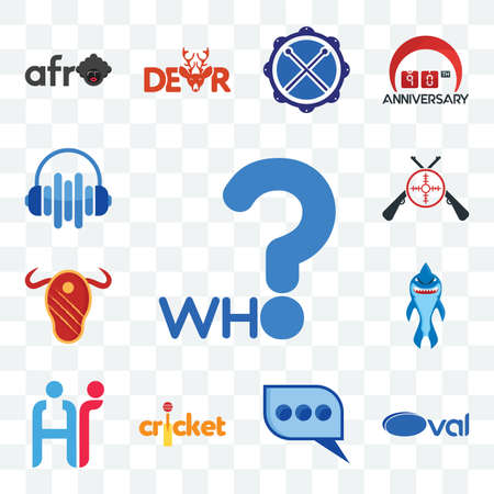 Set Of 13 transparent editable icons such as who, oval, three dots, cricket, hr, shark mascot, steak house, shooters, audio visual, web ui icon pack