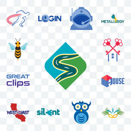 Set Of 13 transparent editable icons such as winding road, carnaval, owl company, silent, west coast, house, great clips, , hornet, web ui icon pack
