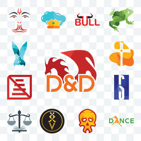 Set Of 13 transparent editable icons such as dungeons and dragons, dance, skull, luxury, naacp, rs, do not use staircase, church, deceit, web ui icon pack