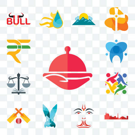 Set Of 13 transparent editable icons such as foodora, leipzig hd, anjaneya, deceit, cricket, unity, naacp, dental, rupees, web ui icon pack