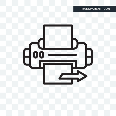 Printer  icon isolated on transparent background