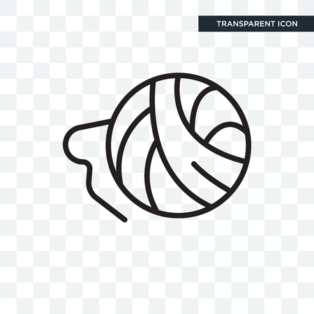 Ball of wool  icon isolated on transparent background Ilustração