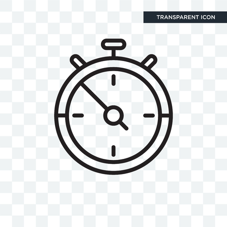 Stopwatch icon concept isolated on transparent background