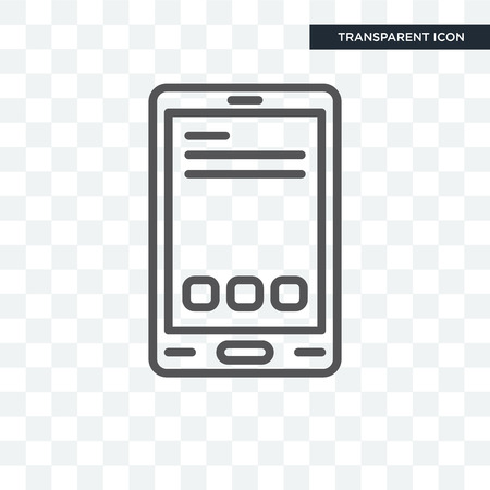 Vertical Smartphone icon isolated on transparent background Çizim