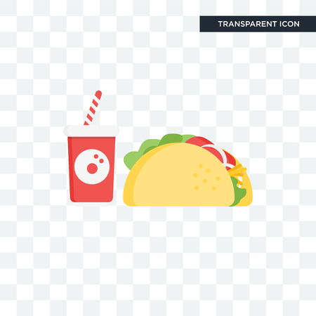 Taco icon isolated on transparent background.