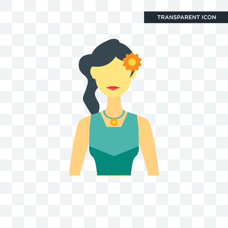 Philippine women icon isolated on transparent background