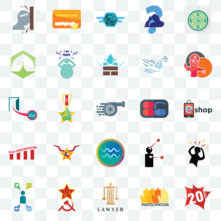 Set Of 25 transparent icons such as 20% off, eshop, pirate mascot, scratch card, campaign management, obesity, symptoms, cash on delivery, web UI transparency icon pack, pixel perfect