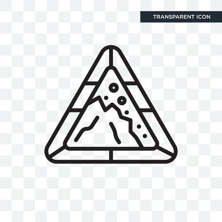 Falling rocks icon isolated on transparent background