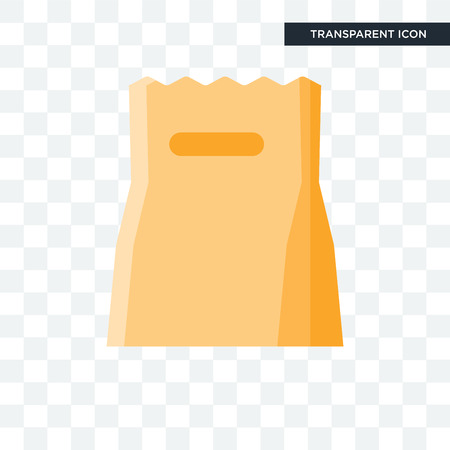 Paper bag icon isolated on transparent background