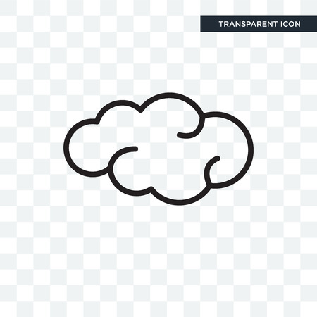 Cloud icon isolated on transparent background.