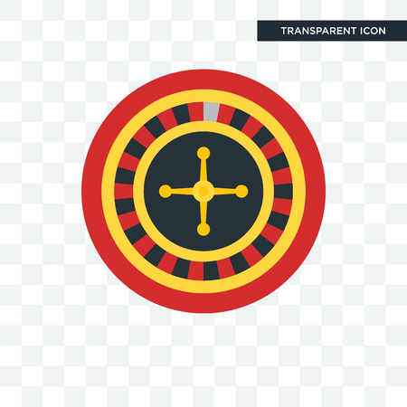 Roulette icon isolated on transparent background. Archivio Fotografico - 106996296