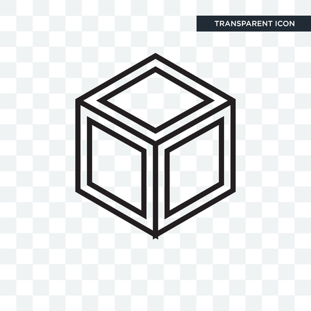 Cube icon isolated on transparent background
