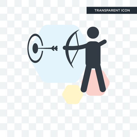 Archery icon isolated on transparent background, Archery concept Illustration