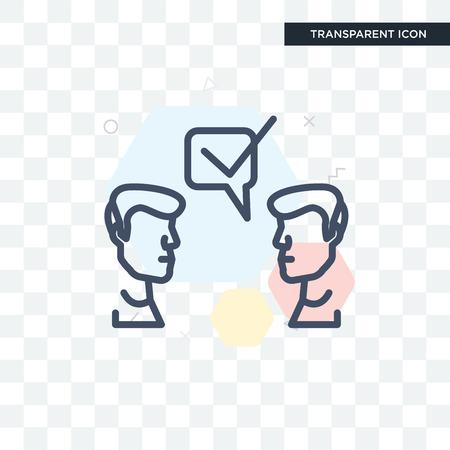 Icono de sugerencia aislado sobre fondo transparente, concepto de icono de sugerencia Ilustración de vector
