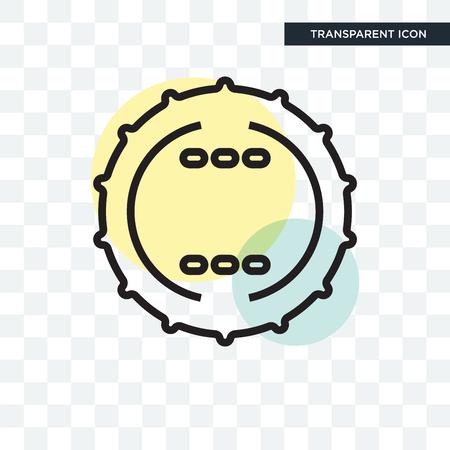 Badge icon isolated on transparent background  イラスト・ベクター素材