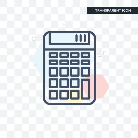 Calculator vector icon isolated on transparent background, Calculator icon concept