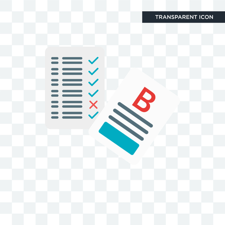 Exam vector icon isolated on transparent background, Exam icon concept Stock Illustratie