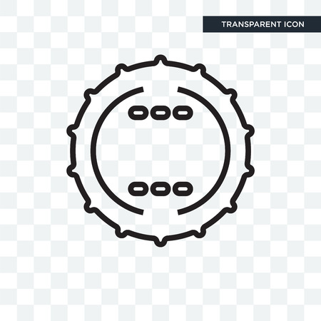 Badge icon isolated on transparent background 向量圖像