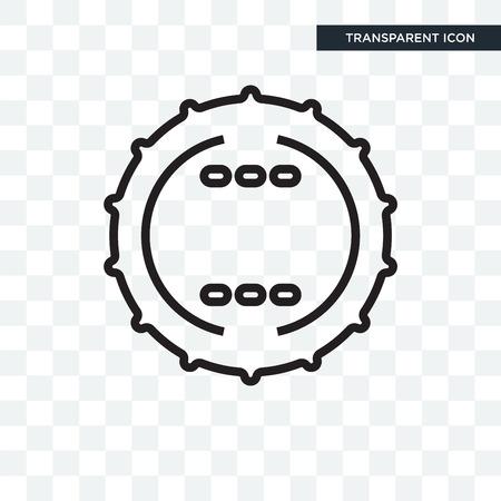 Badge icon isolated on transparent background Illustration