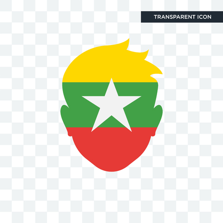Myanmar flaf icon isolated on transparent background