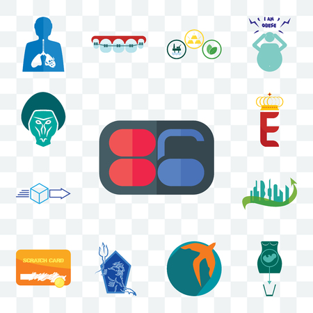Set Of 13 transparent editable icons such as 86, abortion, swift, neptune, scratch card, future city, dispatch, e crown, baboon, web ui icon pack