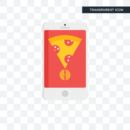 Mobile app vector icon isolated on transparent background, Mobile app icon concept 向量圖像