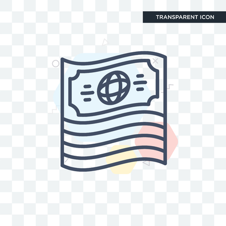 Economy icon isolated on transparent background Stock Illustratie
