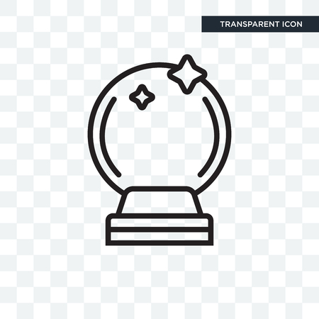 Crystal ball icon isolated on transparent background
