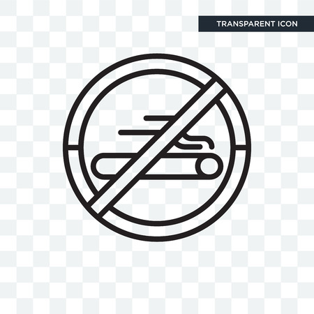 Forbidden smoking icon isolated on transparent background