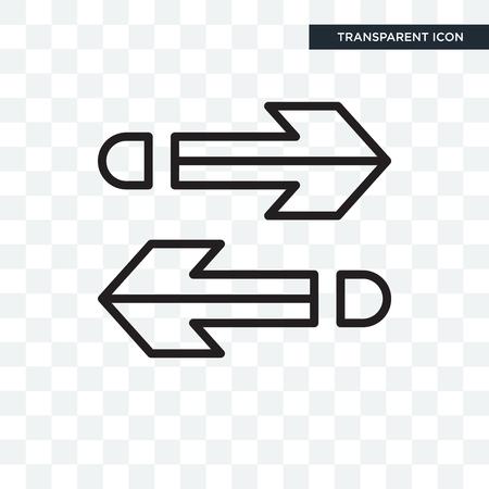 Deux flèches pointant vers la droite et vers la gauche icône isolé sur fond transparent