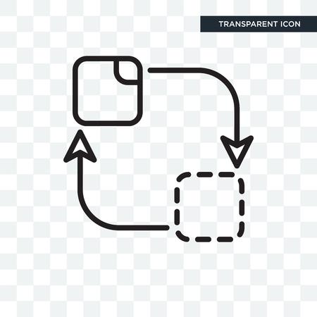 Change icon isolated on transparent background