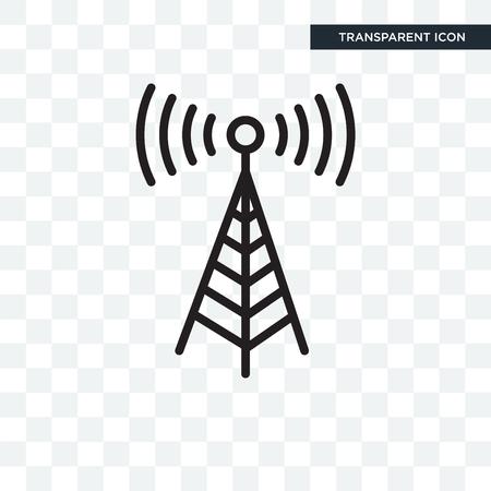 Transmission tower icon isolated on transparent background Illustration