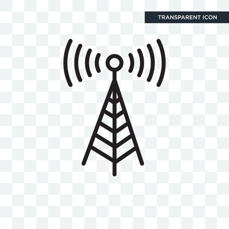 Transmission tower icon isolated on transparent background Vectores