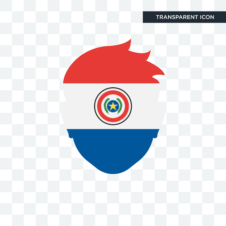 Paraguay icon isolated on transparent background