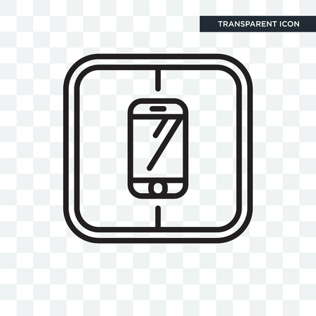 Icono de teléfono inteligente aislado sobre fondo transparente Ilustración de vector