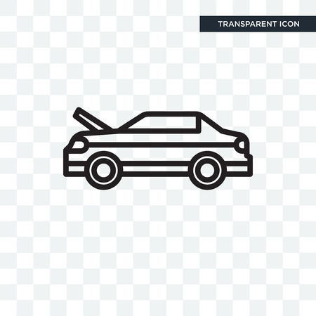 Hood car icon isolated on transparent background