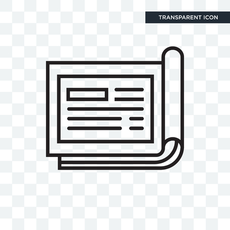 Cheque icon isolated on transparent background
