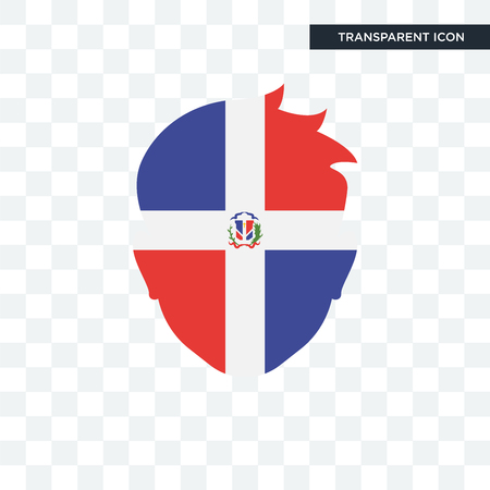 Dominican republic icon isolated on transparent background