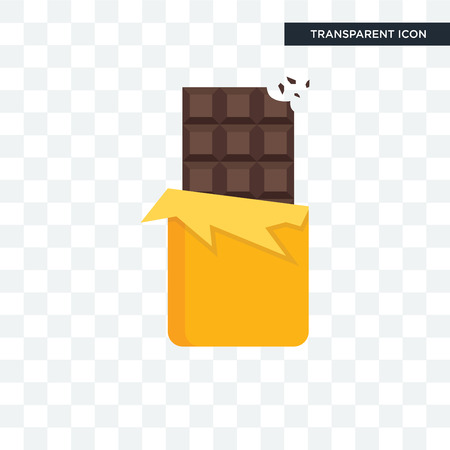 Chocolate vector icon isolated on transparent background