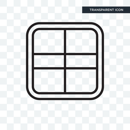 Square icon isolated on transparent background