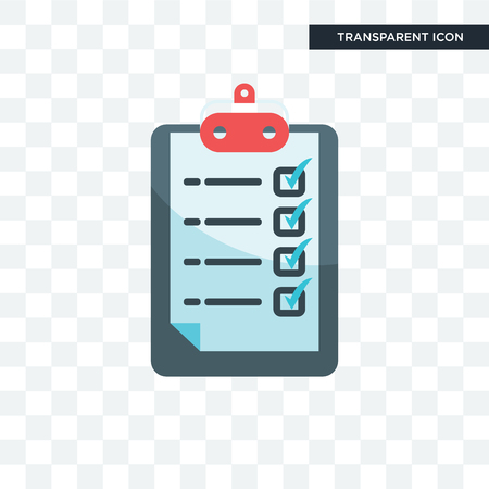 Clipboard vector icon isolated on transparent background
