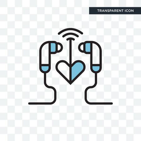 Icône d'illustration d'écouteurs isolé sur fond transparent