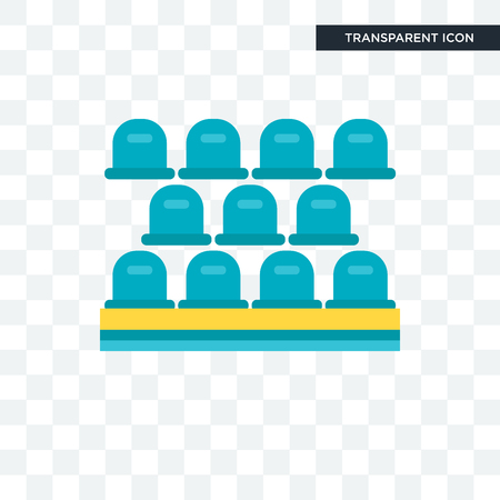 Seat vector icon isolated on transparent background