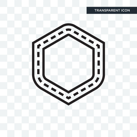 Patch vector icon isolated on transparent background