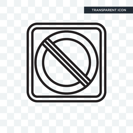 No stopping vector icon isolated on transparent background Illustration