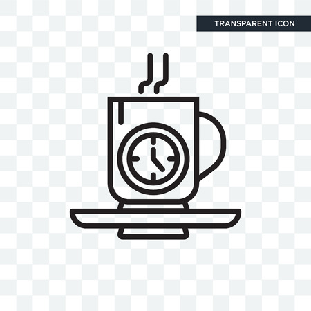 Tea time vector icon isolated on transparent background