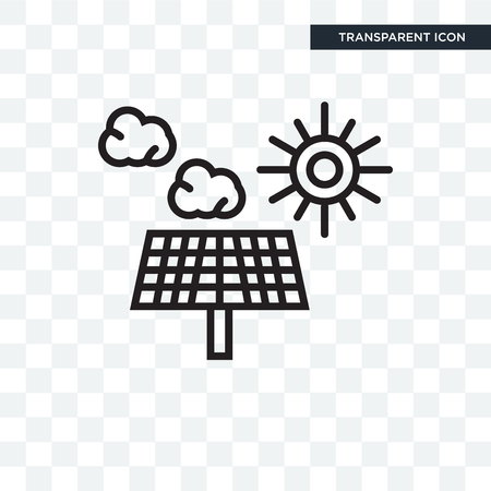 Solar panel vector icon isolated on transparent background Иллюстрация