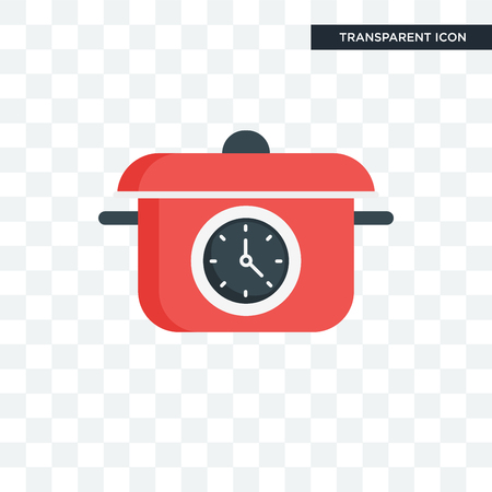 Cooking time vector icon isolated on transparent background Vektorové ilustrace