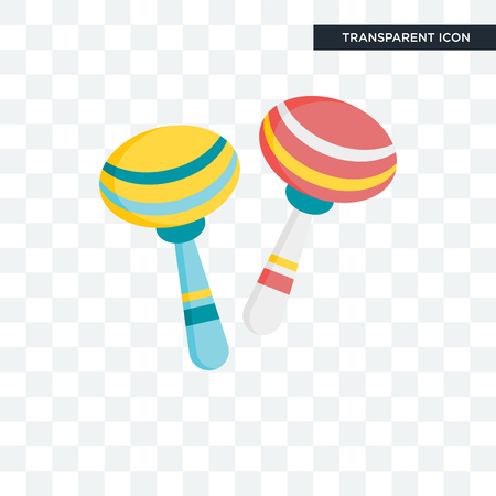 Maracas vector icon isolated on transparent background